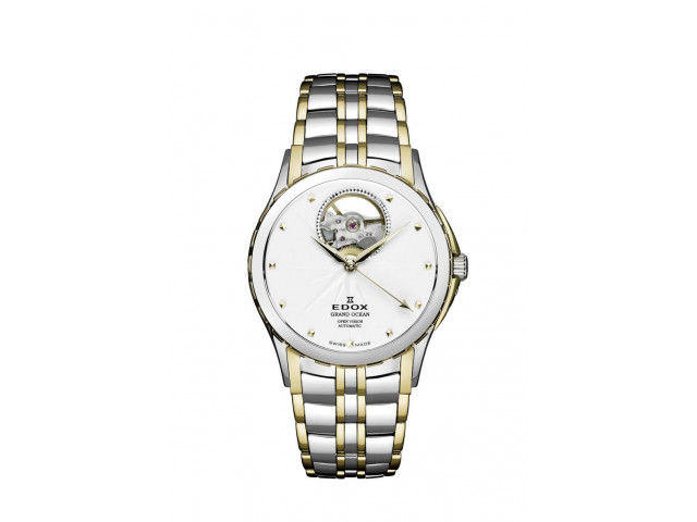 EDOX GRAND OCEAN OPEN HEART AUTOMATIC 33MM LADIES WATCH 85013 357J AID
