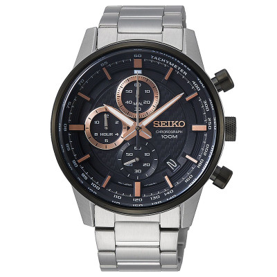 SEIKO SPORT CHRONOGRAPH QUARTZ 43MM MEN'S WATCH SSB331P1