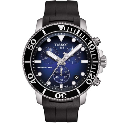 TISSOT SEASTAR CHRONOGRAPH QUARTZ 45.5MM MEN'S WATCH T120.417.17.041.00