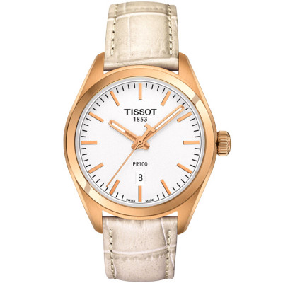 TISSOT PR100 QUARTZ 33MM LADIES  WATCH   T101.210.36.031.00