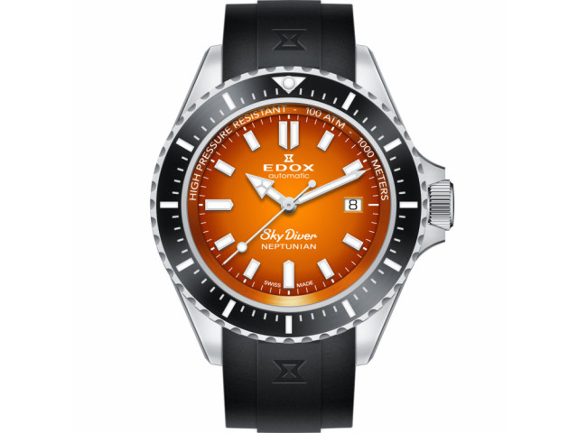 EDOX SKYDIVER NEPTUNIAN EDITION AUTOMATIC 44MM MEN'S 80120 3NCA ODN