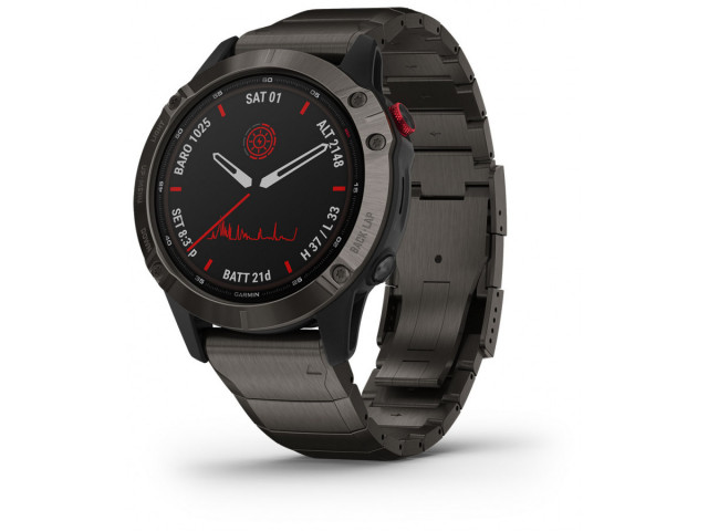 GARMIN FENIX 6S PRO SOLAR CARBON  GREY DLC 42MM 010-02410-23