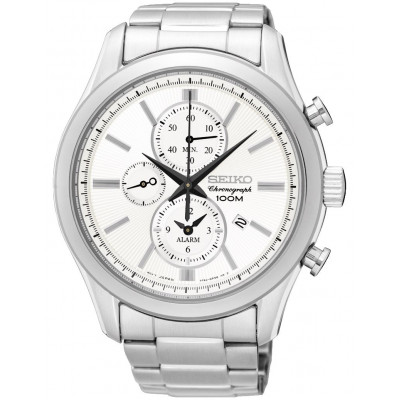 SEIKO SPORT CHRONOGRAPH ALARM QUARTZ 45MM MEN'S WATCH SNAF63P1