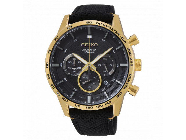 SEIKO CHRONOGRAPH QUARTZ 45MM MEN'S WATCH SSB364P1