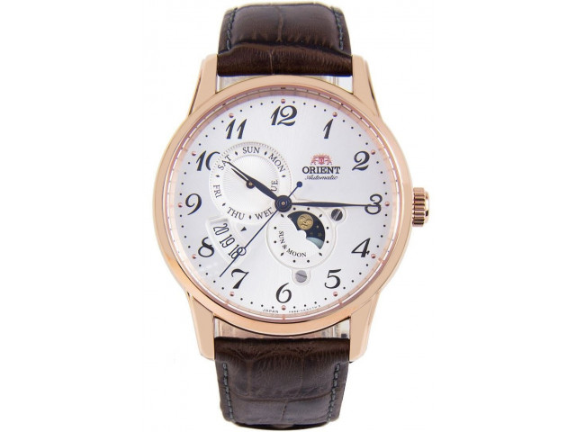 ORIENT CLASSIC AUTOMATIC SUN AND MOON 43MM MEN'S WATCH RA-AK0001S
