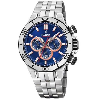 FESTINA CHRONO BIKE 44MM MEN`S WATCH F20448/1