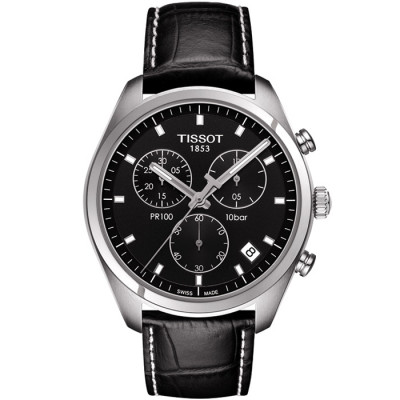TISSOT PR 100 CHRONOGRAPH QUARTZ 41MM MENS WATCH T101.417.16.051.00
