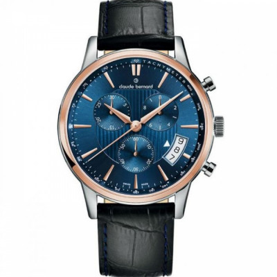 CLAUDE BERNARD CLASSIC CHRONO 42MM MEN'S WATCH 01002 357R BUIR