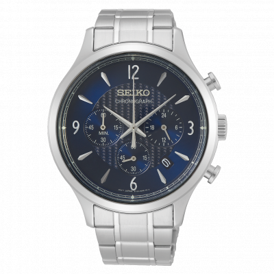 SEIKO SPORT CHRONOGRAPH QUARTZ 44MM MEN'S WATCH SSB339P1