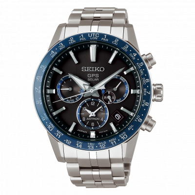 SEIKO ASTRON GPS SOLAR DUAL TIME 43MM MEN'S WATCH SSH001J1