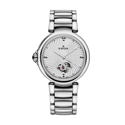 EDOX LAPASSION OPEN HEART AUTOMATIC 33MM  LADIES WATCH  85025 3M AIN