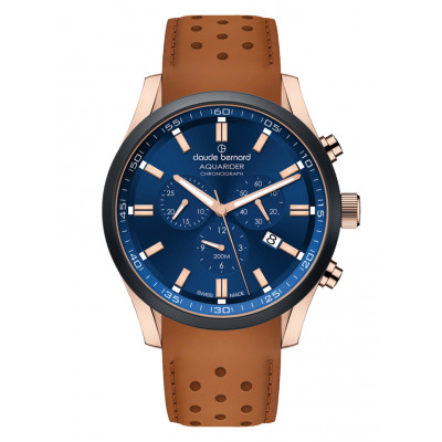 CLAUDE BERNARD AQUARIDER CHRONO 44MM MEN'S WATCH 10222 37RNC BUIR1