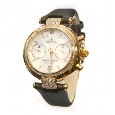 POLJOT INTERNATIONAL NORTHERN LIGHTS CHRONOGRAPH HAND WINDING 39.9MM LADIES WATCH 3133.788007Z