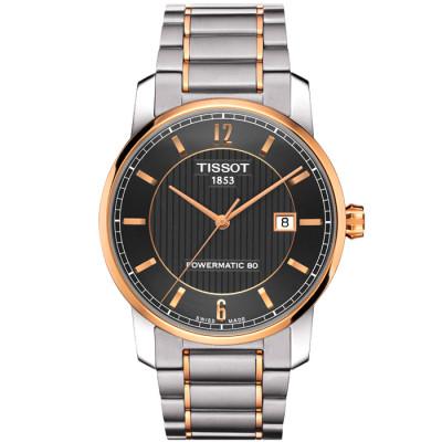 TISSOT TITANIUM AUTOMATIC POWERMATIC80 40MM MEN'S WATCH T087.407.55.067.00