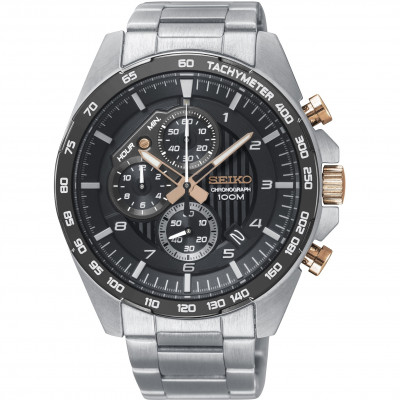 SEIKO SPORT CHRONOGRAPH QUARTZ  44MM MEN'S WATCH SSB323P1