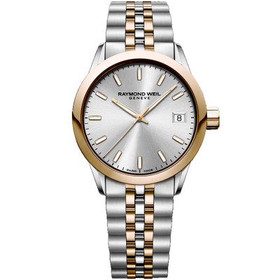 RAYMOND WEIL FREELANCER QUARTZ 34MM LADIES WATCH 5634-SP5-65021