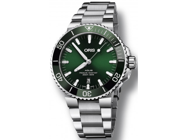 ORIS AQUIS DIVING DATE AUTOMATIC 43.5 MM MEN'S WATCH 733 7730 4157 - 07 8 24 05PEB