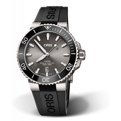 ORIS AQUIS  DIVING DATE TITANIUM AUTOMATIC 44MM MEN'S WATCH 733 7730 7153-07 4 24 64TEB