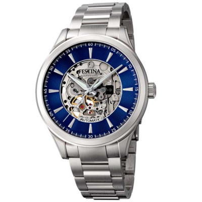 FESTINA SKELETON AUTOMATIC 42.8MM MEN`S WATCH  F20536/3