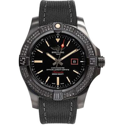 BREITLING AVENGER BLACKBIRD DIAMONDS AUTOMATIC 44MM MEN'S WATCH V17311AT/BD74/109W