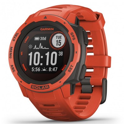 GARMIN INSTINCT SOLAR™ FLAME RED 45MM  010-02293-20