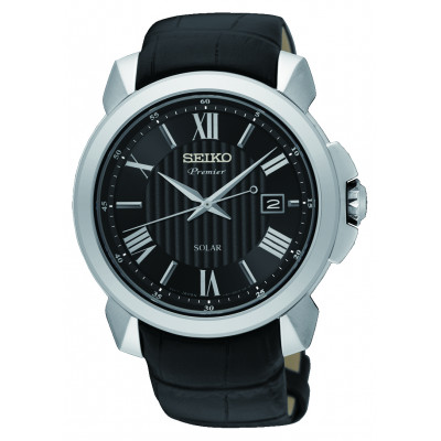 SEIKO PREMIER SOLAR 43MM MEN'S WATCH SNE455P2