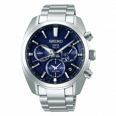 SEIKO ASTRON GPS SOLAR DUAL TIME 43MM MEN'S WATCH SSH019J1