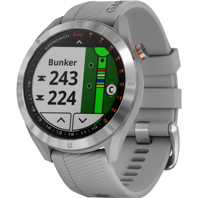 GARMIN ЗА ГОЛФ APPROACH® S40 SILVER/GREY 43MM 010-02140-00