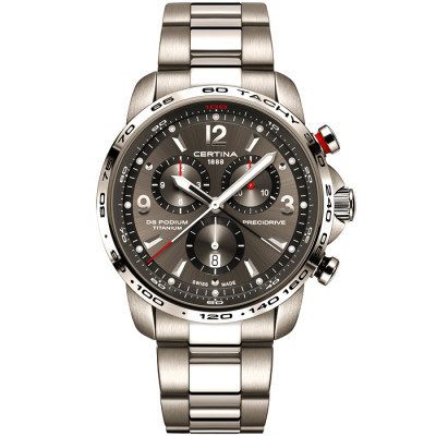 CERTINA DS PODIUM CHRONOGRAPH 1/100 SEC PRECIDRIVE  TITANIUM  44MM MEN'S WATCH C001.647.44.087.00