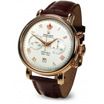 POLJOT INTERNATIONAL NIKOLAI II CHRONOGRAPH HAND WINDING 43MM MEN'S WATCH  2901.1946612