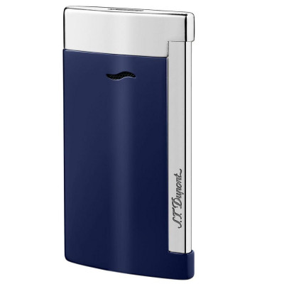ЗАПАЛКА S.T.DUPONT SLIM 7 BLUE CHROME 27709