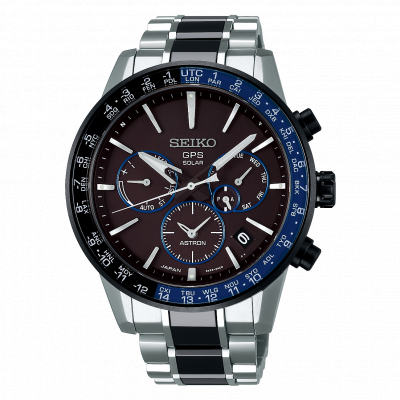 SEIKO ASTRON GPS SOLAR DUAL TIME 43.5MM MEN'S WATCH SSH009J1