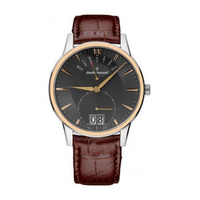 CLAUDE BERNARD CLASSIC DAY RETROGRADE 40.5 MM. MEN'S WATCH 34004 357R GIR