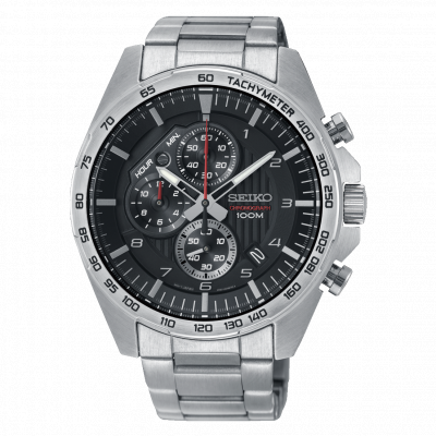 SEIKO SPORT CHRONOGRAPH QUARTZ 44MM MEN'S WATCH SSB319P1