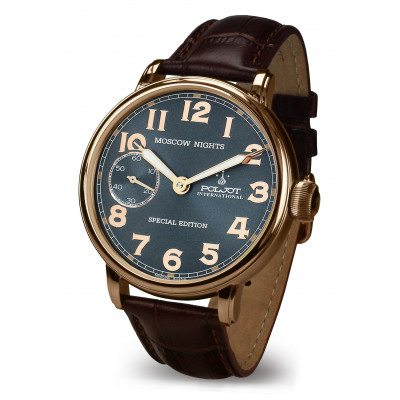 POLJOT INTERNATIONAL  MOSCOW NIGHTS  SPECIAL EDITION HAND WINDING 43MM MEN'S WATCH   9011.1940263