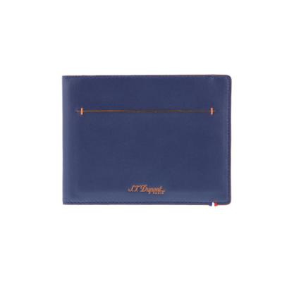 ПОРТФЕЙЛ S.T.DUPONT LINE D SLIM  7CREDIT CARDS BLUE&ORANGE 184400
