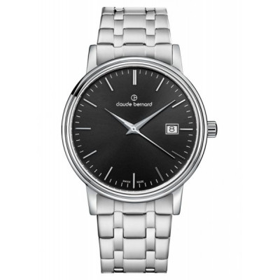 CLAUDE BERNARD CLASSIC GENTS 39 MM. MEN'S WATCH 53007 3M NIN