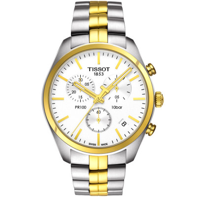 TISSOT PR 100 CHRONOGRAPH QUARTZ 41MM MENS WATCH T101.417.22.031.00
