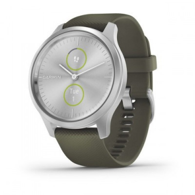 GARMIN VIVOMOVE STYLE SILVER MOSS GREEN 42MM 010-02240-21