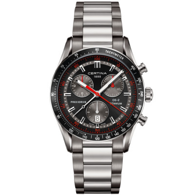 CERTINA DS-2  CHRONOGRAPH 1/100 41MM  TITANIUM MEN'S  QUARTZ WATCH C024.447.44.051.00