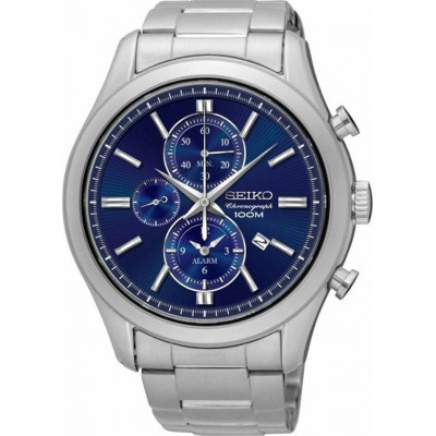 SEIKO CHRONOGRAPH QUARTZ 45MM MEN'S WATCH SNAF65P1