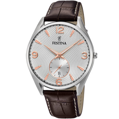 FESTINA RETRO 41 MM MEN`S WATCH F6857/7