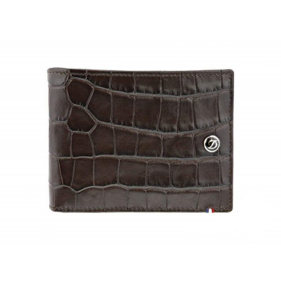ПОРТФЕЙЛ S.T.DUPONT LINE D CROCO DANDY BROWN LEATHER 8CREDIT CARDS 180163