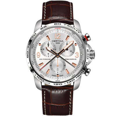 CERTINA DS PODIUM CHRONOGRAPH 1/100 SEC PRECIDRIVE  44MM MEN'S WATCH C001.647.16.037.01
