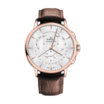EDOX LES BEMONTS 42MM MEN'S QUARTZ WATCH 01602 37R AIR