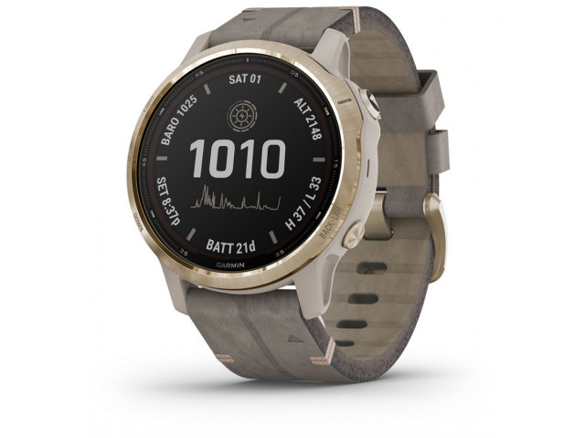 GARMIN FENIX 6S PRO SOLAR LIGHT GOLD 42MM 010-02409-26