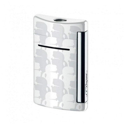 ЗАПАЛКА S.T.DUPONT MINIJET  KARL LAGERFELD CHROME FINISH&LACQUER SPECIAL EDITION 10071