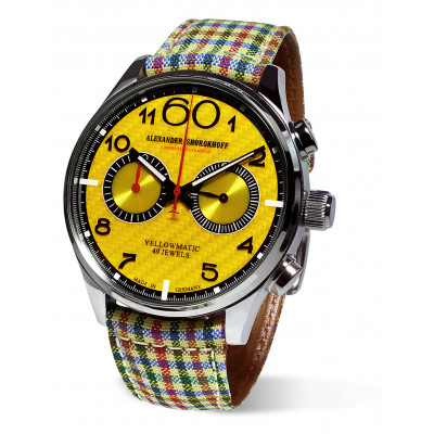 ALEXANDER SHOROKHOFF YELLOWMATIC  43.5MM AUTOMATIC  MEN'S WATCH AS.N.PT05-55S