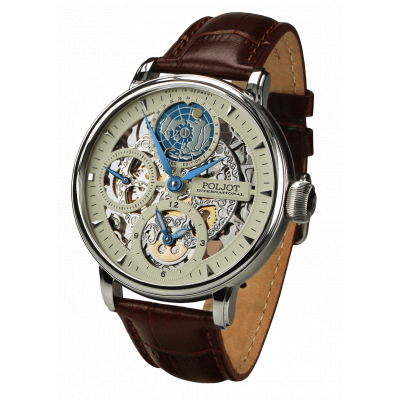 POLJOT INTERNATIONAL GLOBETROTTER HAND WINDING 43MM MEN'S WATCH LIMITED EDITION 300PIECES 9730.2940552