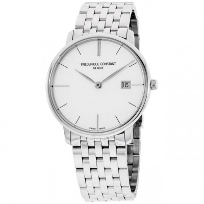 FREDERIQUE CONSTANT SLIMLINE 38 MM MEN'S SILVER DIAL WATCH FC220S5S6B